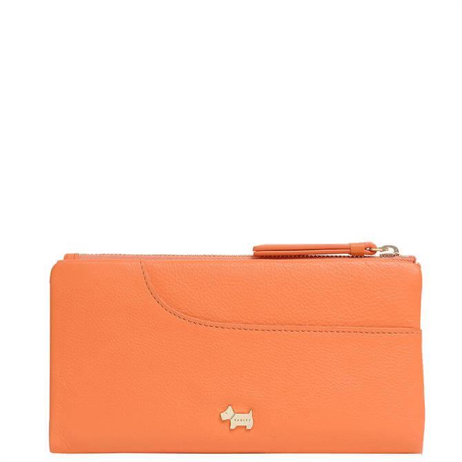 Radley London Pockets Orange Large Bifold Matinee Purse