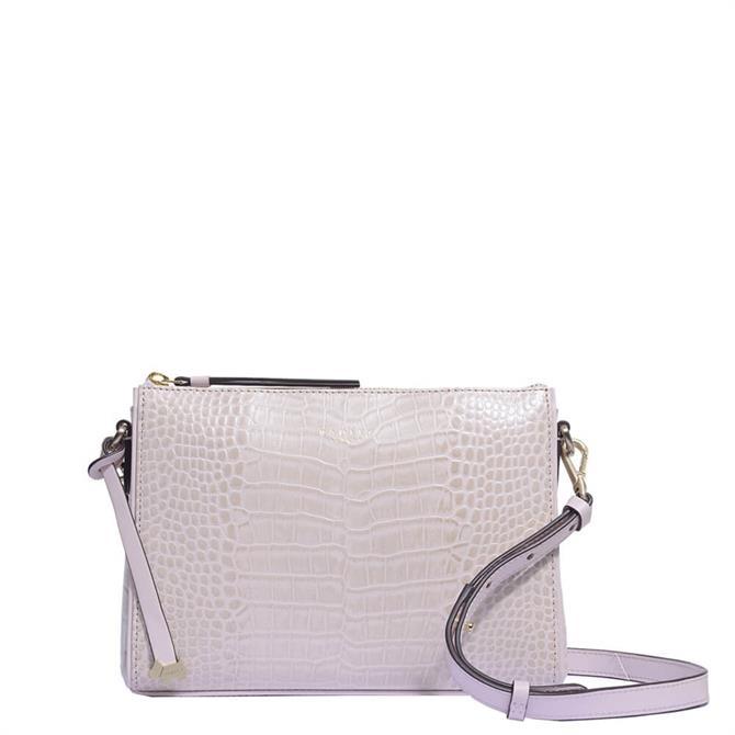 Radley London Selby Street Faux Croc Pink Small ZipTop Cross Body Bag