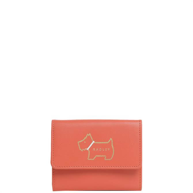 Radley London Heritage Dog Outline Red Pepper Small Trifold Purse