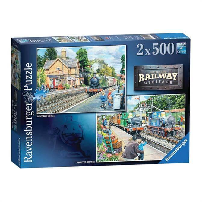 Ravensburger Railway Heritage No2 2x 500 Piece Jigsaw Puzzles
