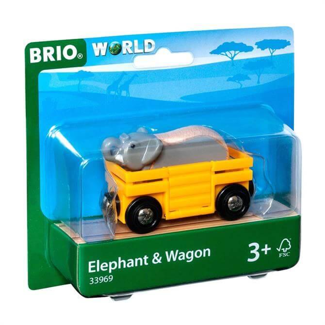 Brio Safari Elephant and Wagon Pack 33969