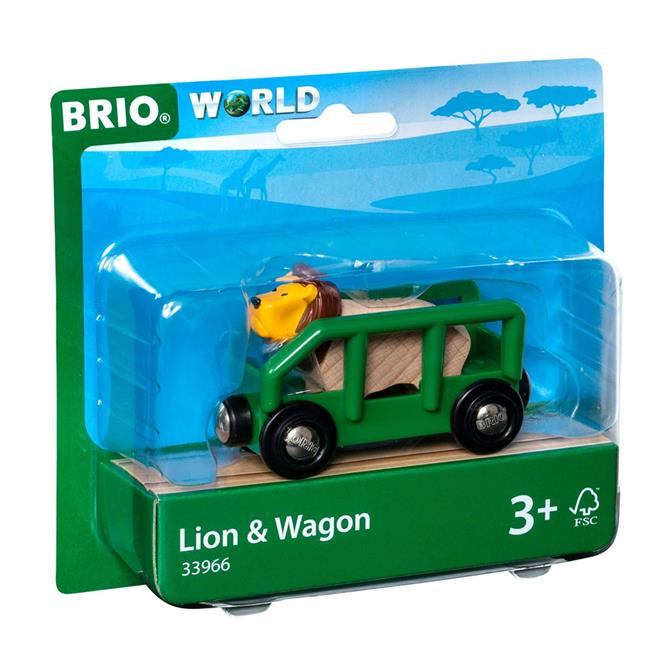 Brio World Lion & Wagon Pack 33966