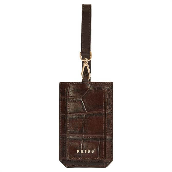 REISS LONGFORD Leather Luggage Tag
