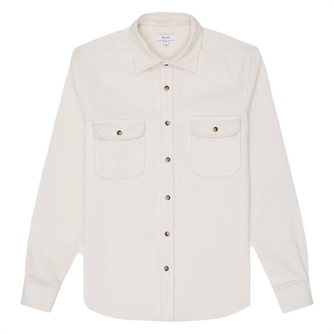 REISS MALDINI Cotton Corduroy Overshirt