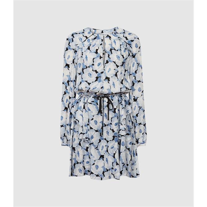 REISS MADDY Floral Print Flippy Dress