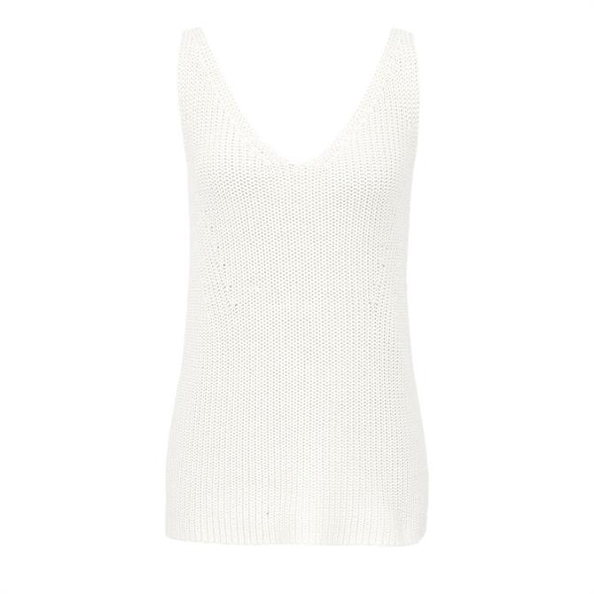 REISS SIENNA Cotton Silk Chunky Knit Vest