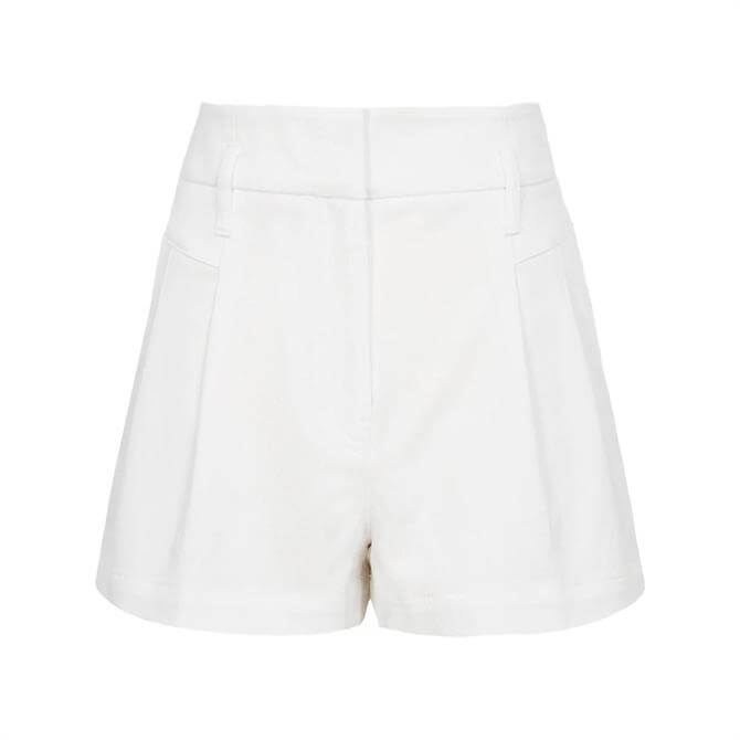 REISS APRIL White Pleat Front Tailored Shorts
