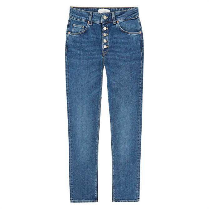 REISS BAILEY Mid Blue Mid Rise Slim Cut Jeans