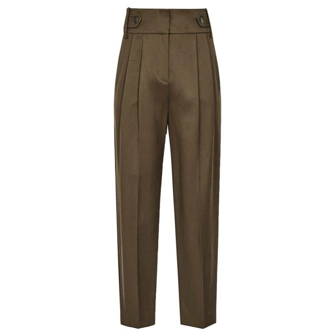 REISS STANTON Cropped Tapered Trousers