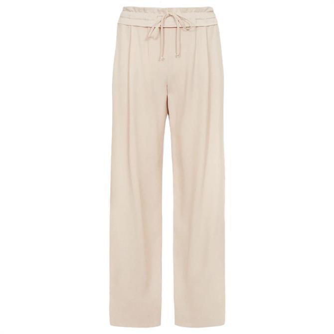 REISS RAYA Blush Pink Wide Leg Trousers