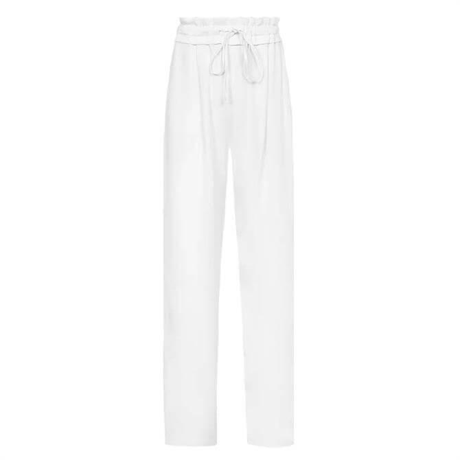 REISS RAYA White Wide Leg Trousers