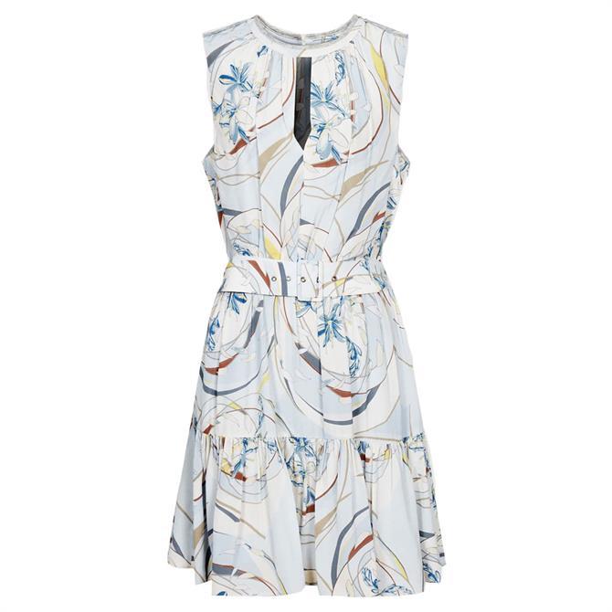 REISS VIENNA Swirl Printed Mini Dress