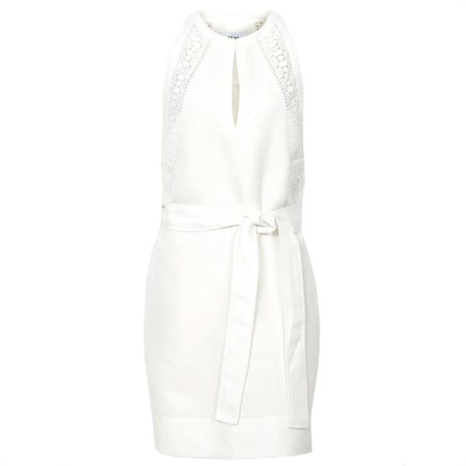 REISS RHONA White Embroidered Mini Dress