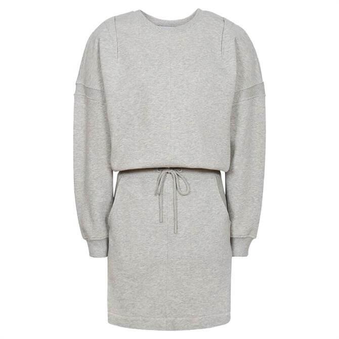 REISS JETTA Grey Marl Jersey Sweater Dress