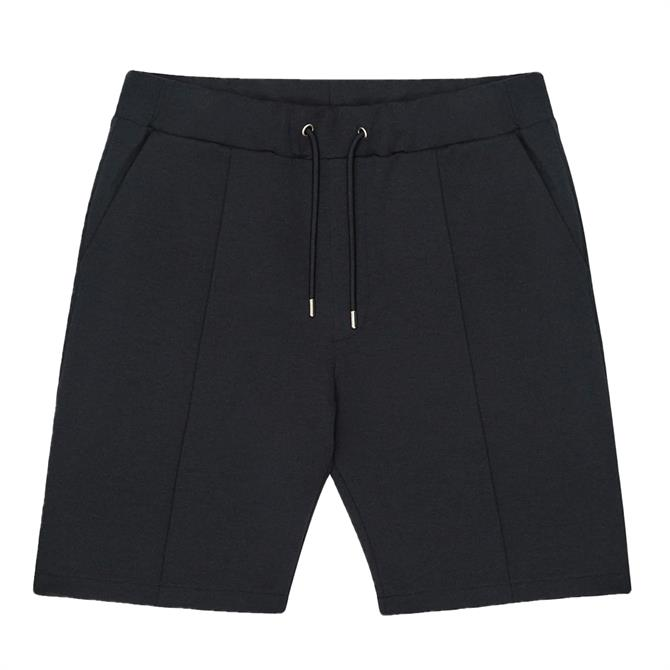 REISS DALE Navy Tailored Shorts with Drawcord Waist