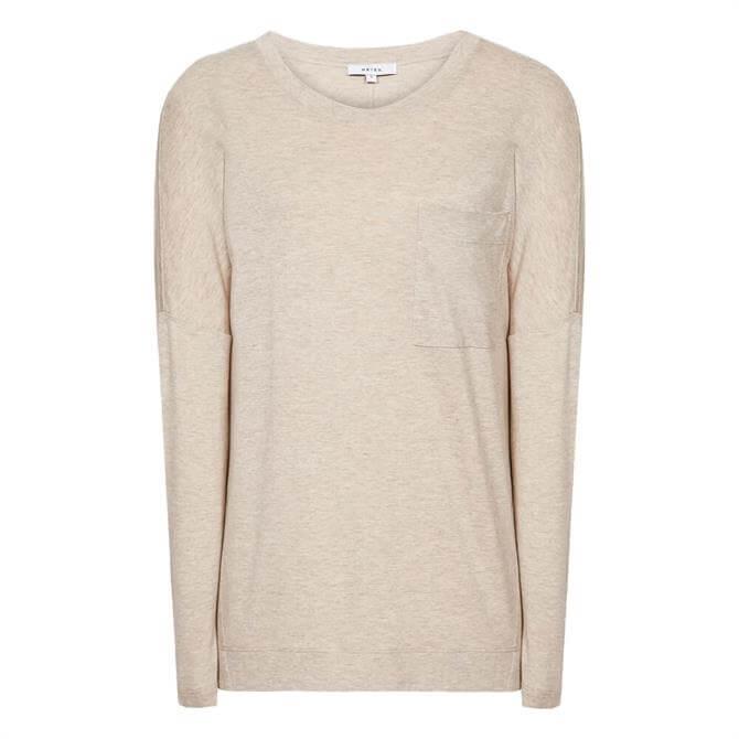 REISS CORALINE Fine Jersey Long Sleeve T-Shirt