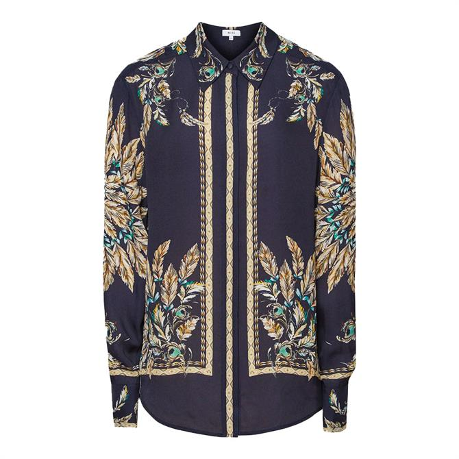 REISS TIFF Feather Printed Shirt