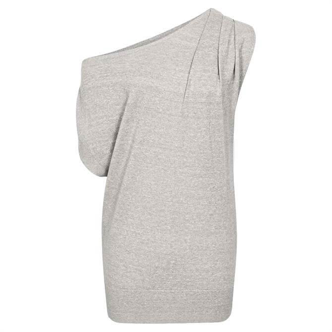 REISS OLIVIA Asymmetric Fine Knit Top