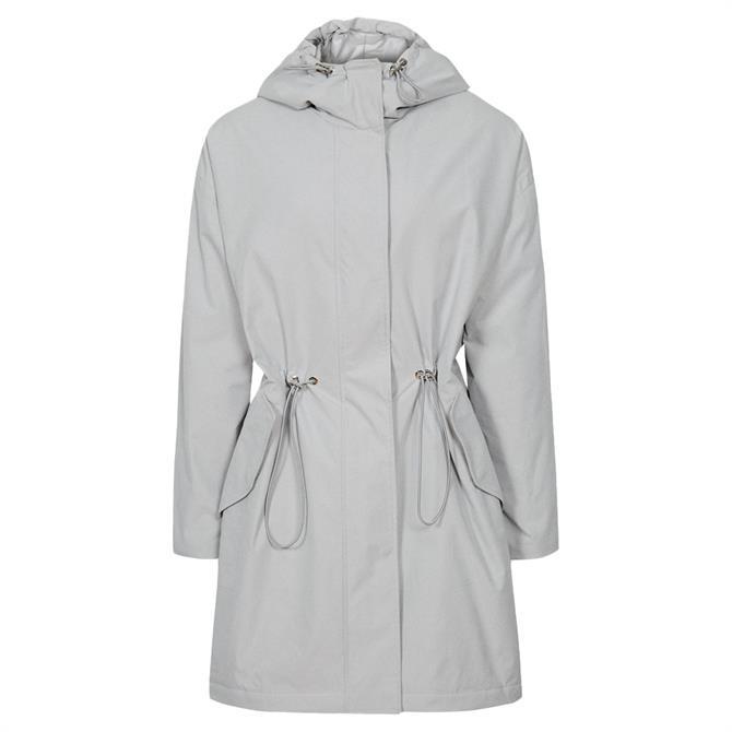 REISS ELLA Grey Lightweight Parka Jacket