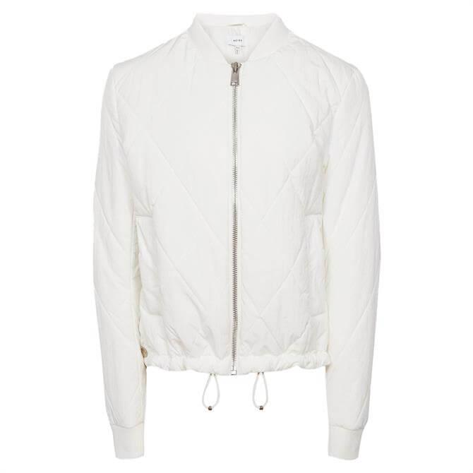 REISS CARLA Cream Lightweight Puffer Jacket
