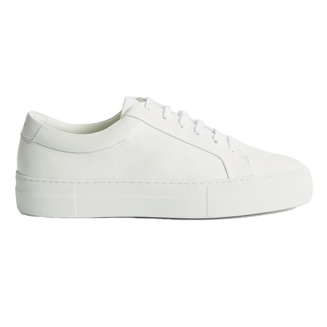 REISS LUCA Tumbled Leather Trainers