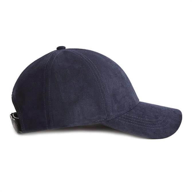 REISS STEWIE Navy Suedette Baseball Cap