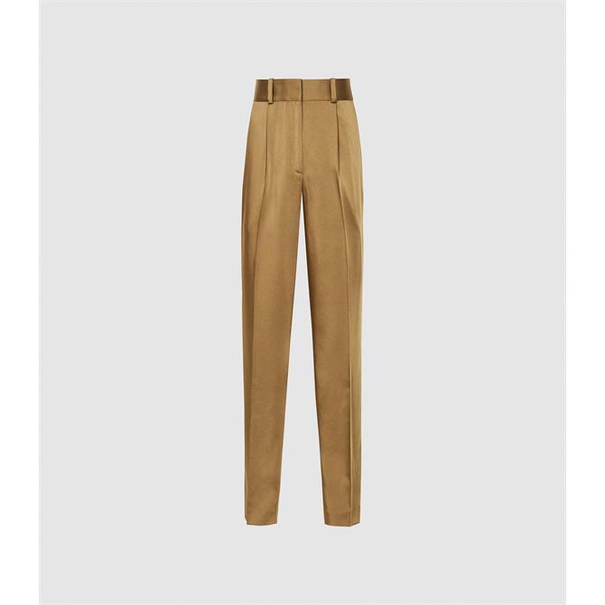 REISS ELYSSAH Satin Pleated Trousers