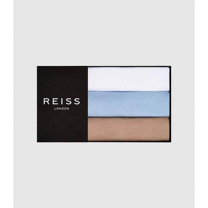 REISS BLESS Three Pack of Neutral Crew Neck T-Shirts