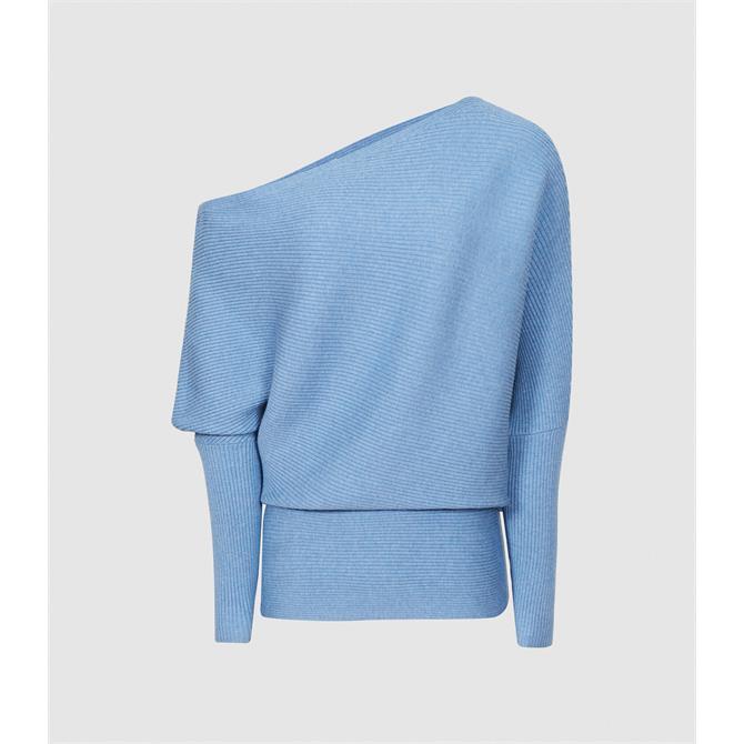 REISS LORNA Asymmetric Knitted Top