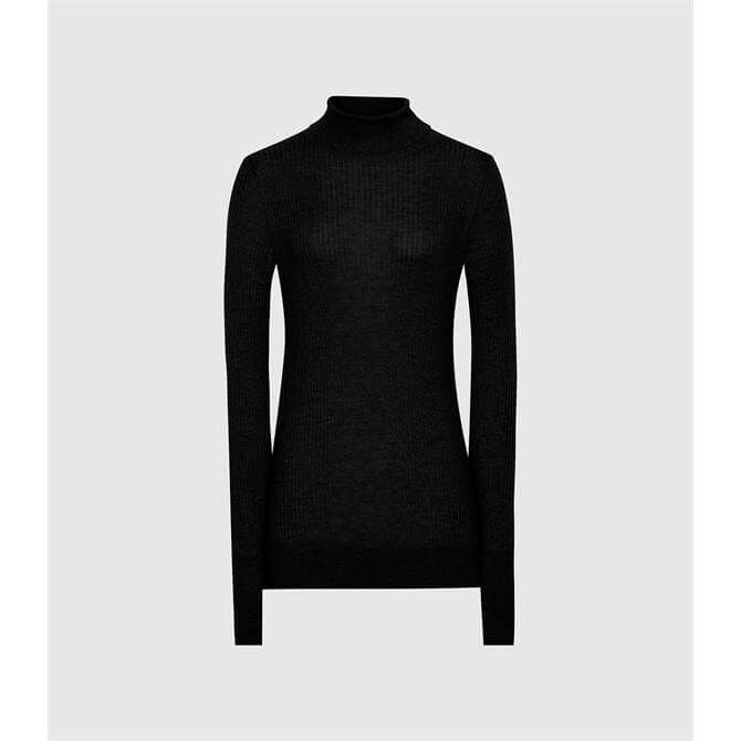 REISS SOPHIE Knitted Roll Neck Jumper