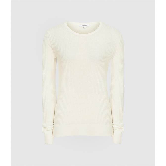 REISS MICHELLE Crew Neck Knitted Top