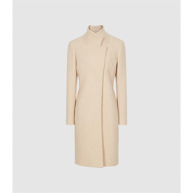 REISS MARCIE Wool Blend Mid Length Coat