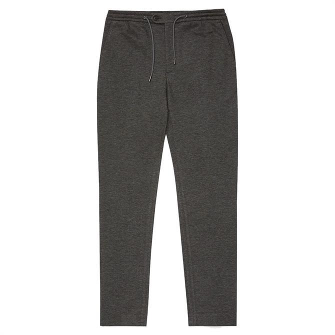 REISS FLEXO Grey Slim Fit Jersey Stretch Trousers