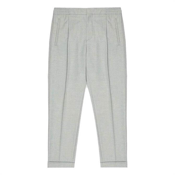 REISS BRIGHTON Soft Grey Pleated Front Trousers