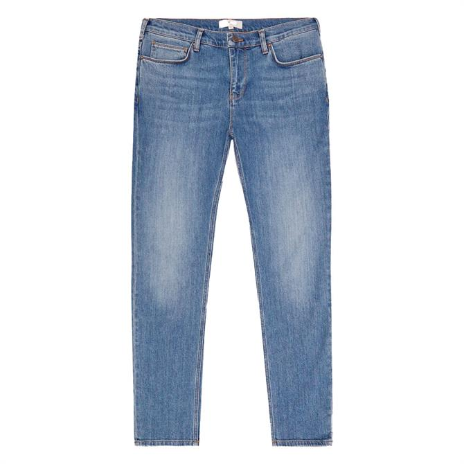 REISS ARG Blue Tapered Slim Fit Jeans