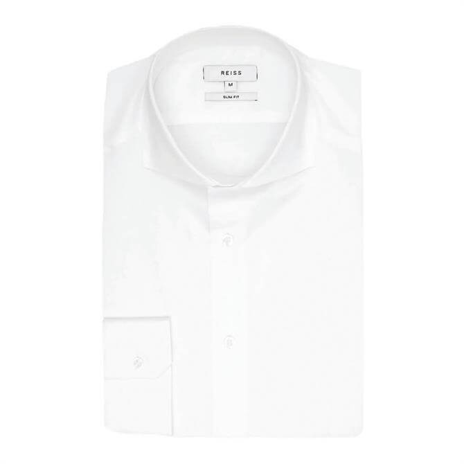 REISS STORM Slim Two Fold Cutaway Collar Slim Fit Shirt