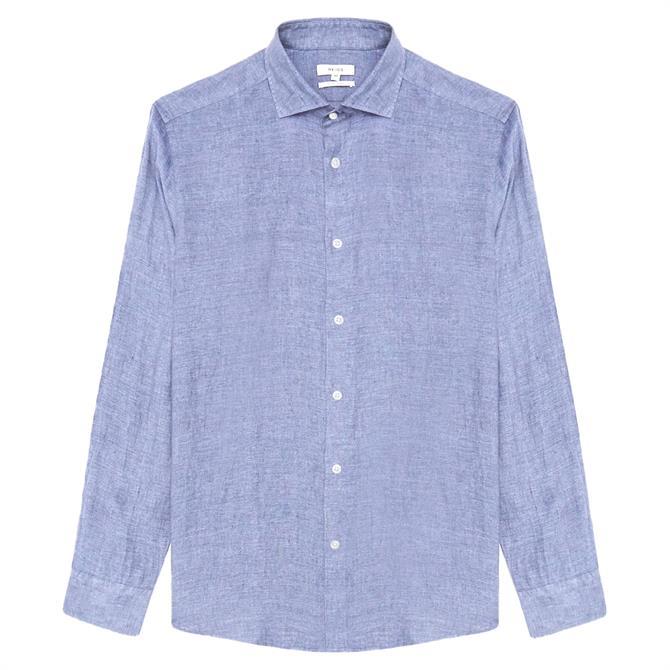 REISS RUBAN Linen Regular Fit Shirt