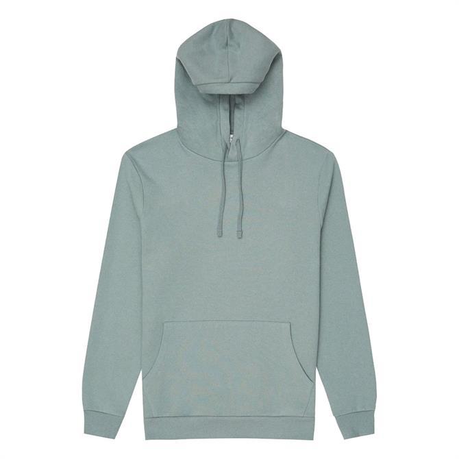 REISS BERWICK Sage Garment Dyed Hoodie