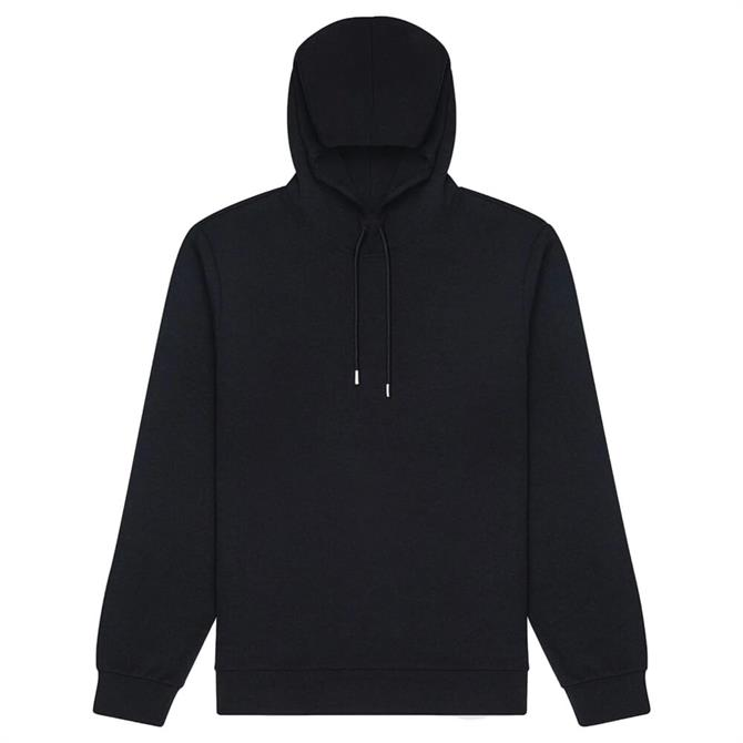 REISS FABIEN Navy Neoprene Loungewear Hoodie
