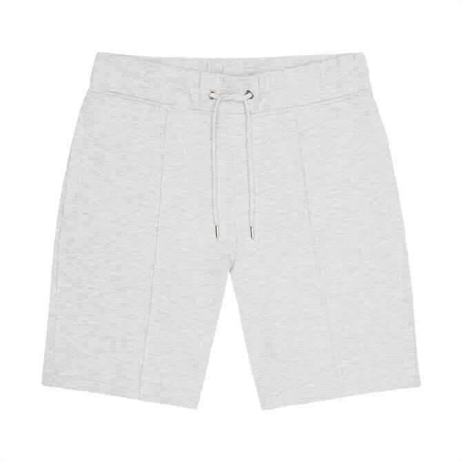 REISS BARRY Grey Textured Melange Jersey Shorts