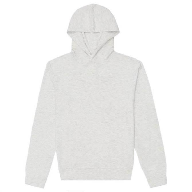 REISS Pearce Soft Grey Melange Jersey Hoodie