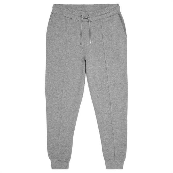 REISS PREMIER Grey Melange Neoprene Loungewear Joggers