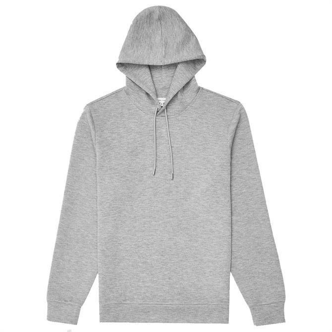 REISS FABIEN Grey Melange Neoprene Loungewear Hoodie