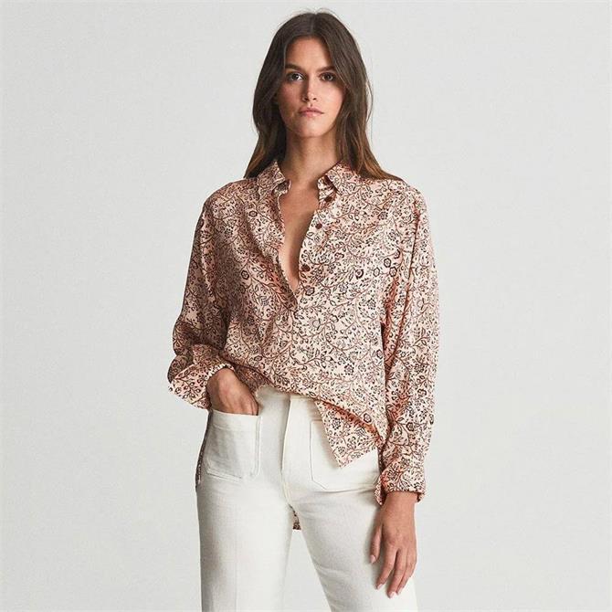 REISS EMA Paisley Printed Shirt