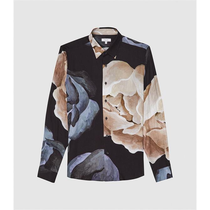 REISS BEATRIX Floral Printed Shirt