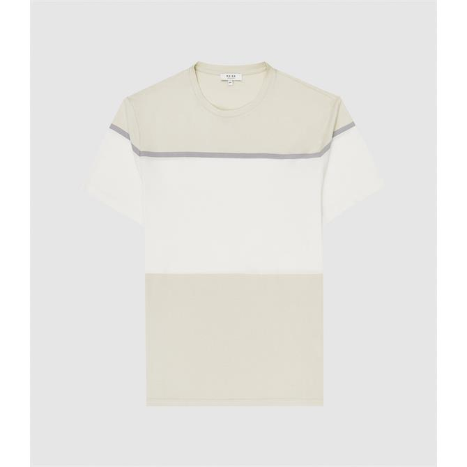 REISS BLOCK Mercerised Colour Block T-shirt