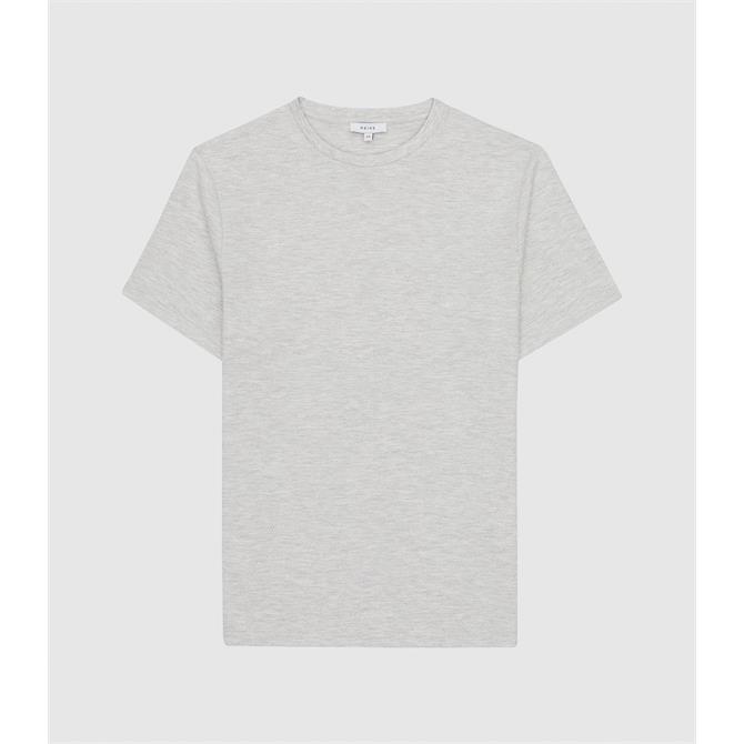 REISS PUTNEY Grey Textured Crew Neck T-Shirt