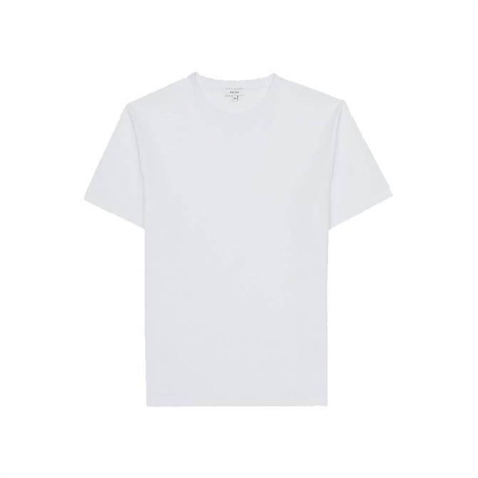 REISS PUTNEY White Textured Crew Neck T-Shirt