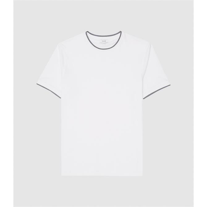 REISS FORD Tipped White T-Shirt
