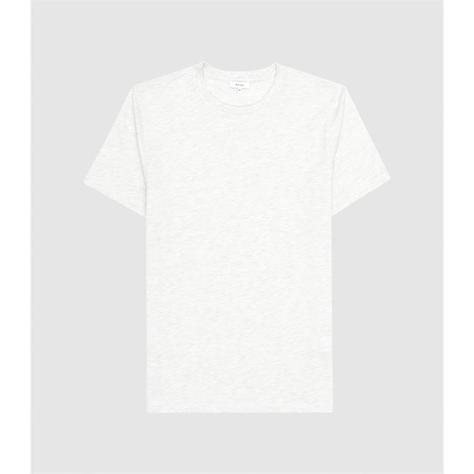 REISS Bless Sage Melange Regular Fit Crew Neck T-Shirt